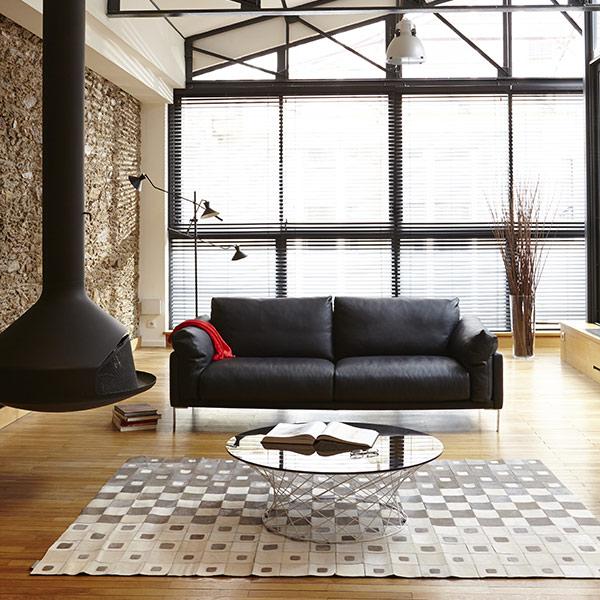 Loft urbain mat riaux bruts et couleurs sobres pour for Canape urbain